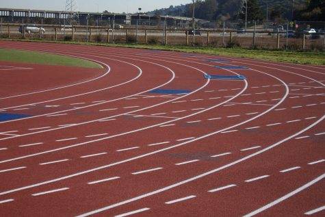 Track Closed For New Paint Job