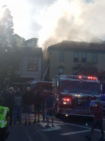 Fire in Downtown Sausalito