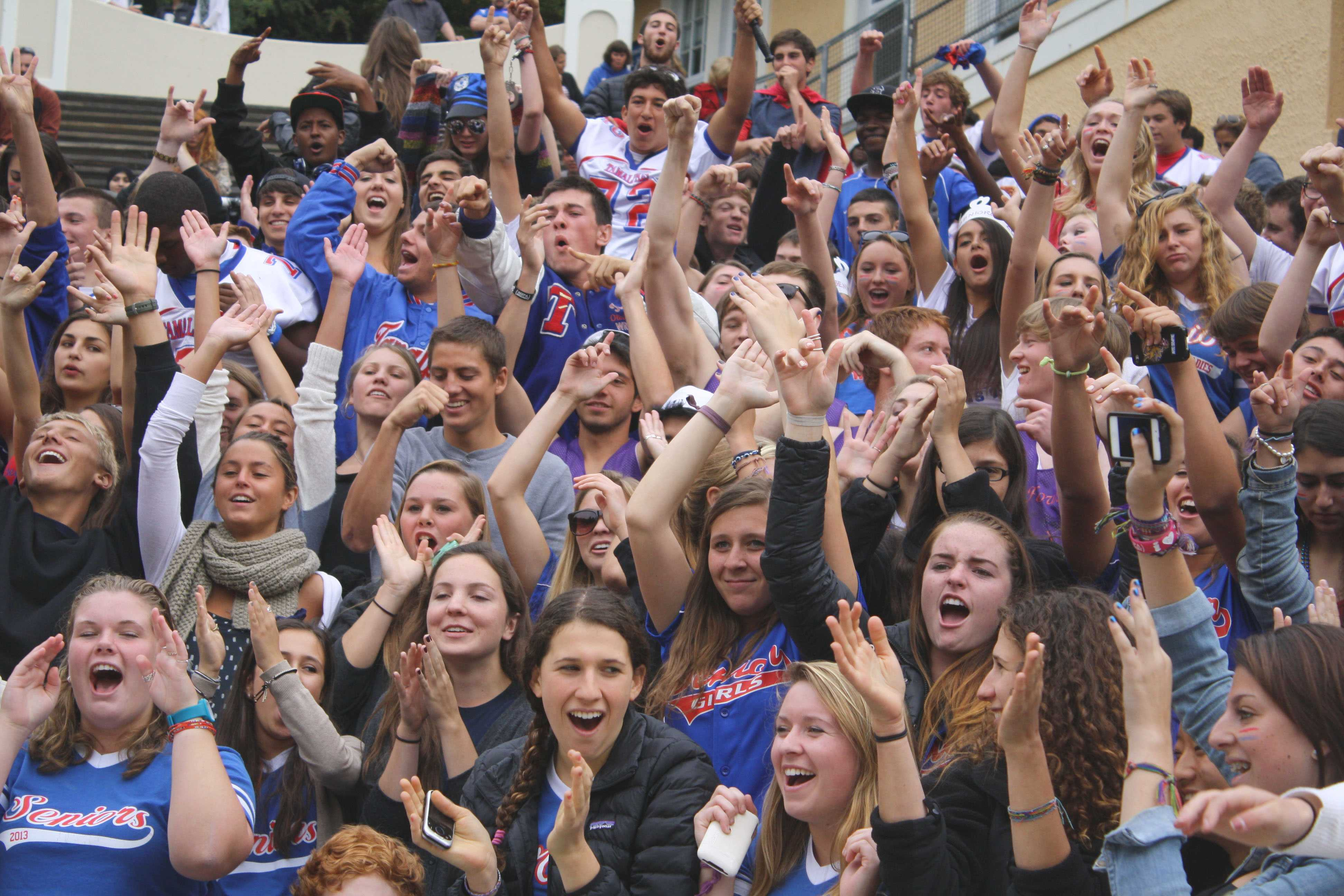 The senior class of 2013 shows off their enthusiasm and spirit.