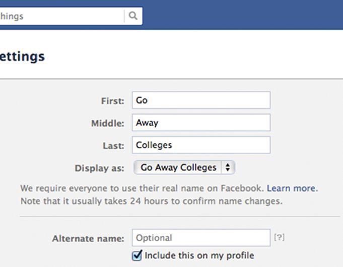 Seniors Change Names on Facebook