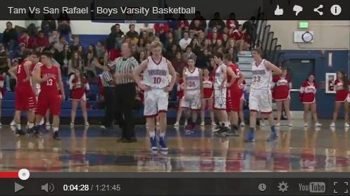 Broadcast: Boys' Varsity Basketball vs San Rafael