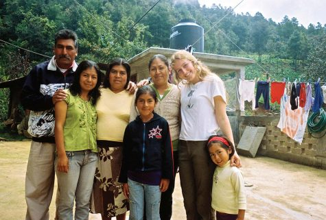 CULTURAL EXCHANGE: Cella Wright stands for a photo with her host family during her Amigos trip to Oaxaca, Mexico.                                                                                 Photo courtesy of: Cella Wright