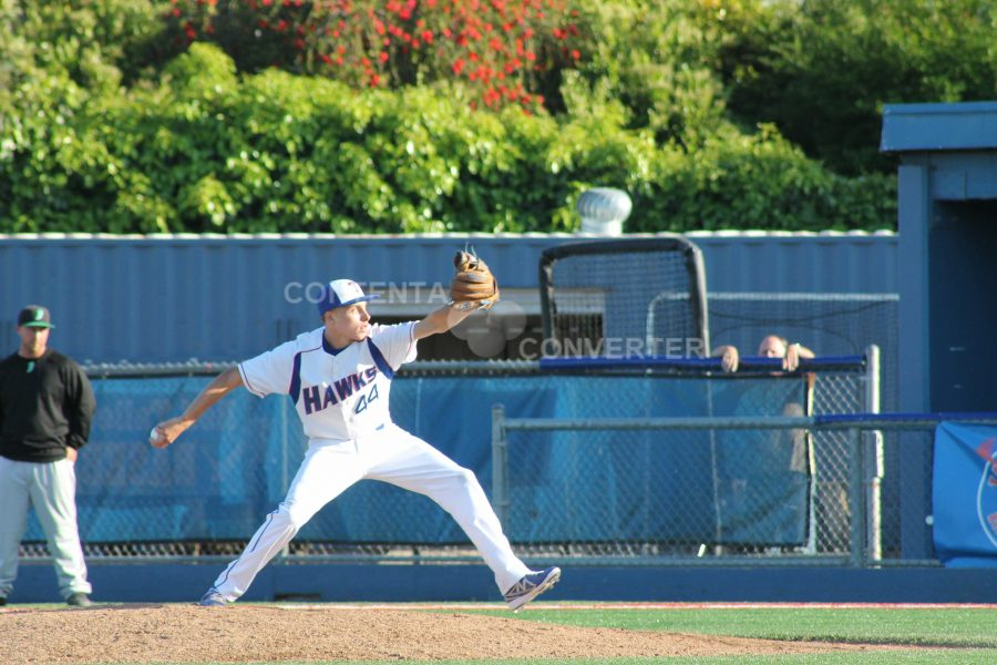 Mason Collins takes the mound against the Drake Pirates in a critical game on May 6.  Tam lost 0-2.