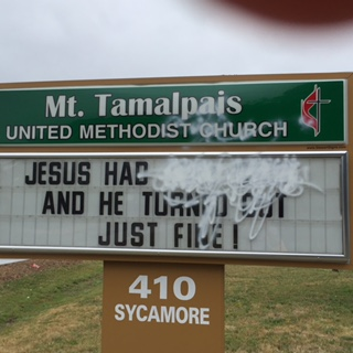 Church Sign Painted Over