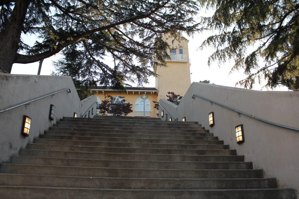clock tower and stairs generic
