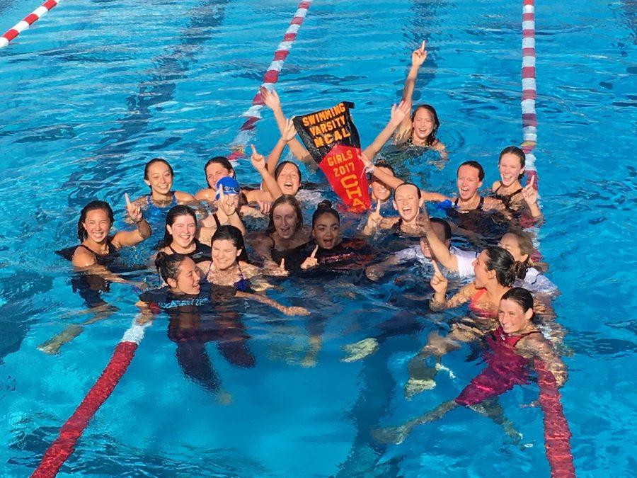 Girls Swimming Wins MCALs