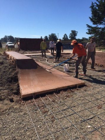 Work Being Done on the Bolinas Skatepark