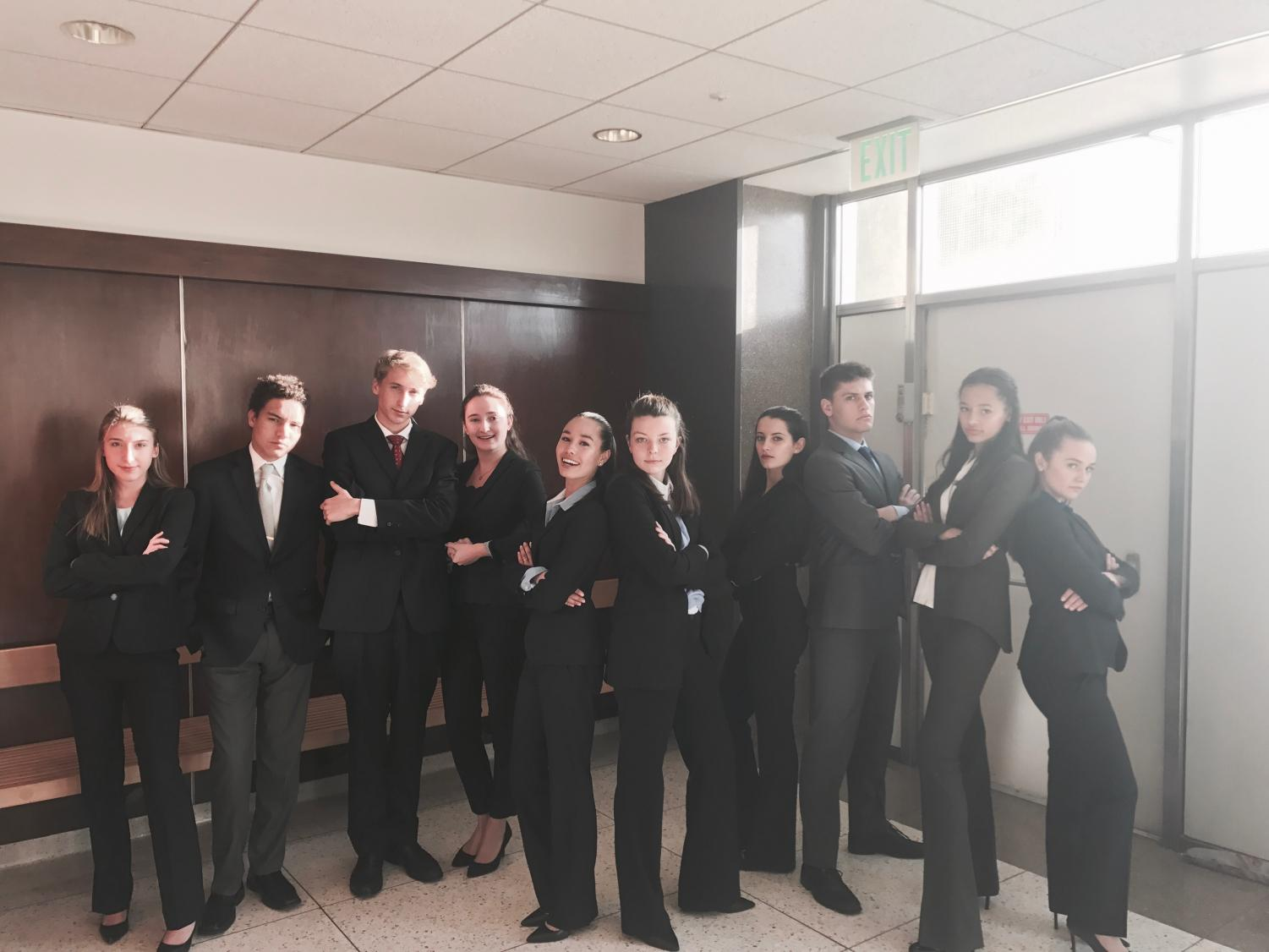 Tam High Mock Trial participants at annual State Championship in 2018
