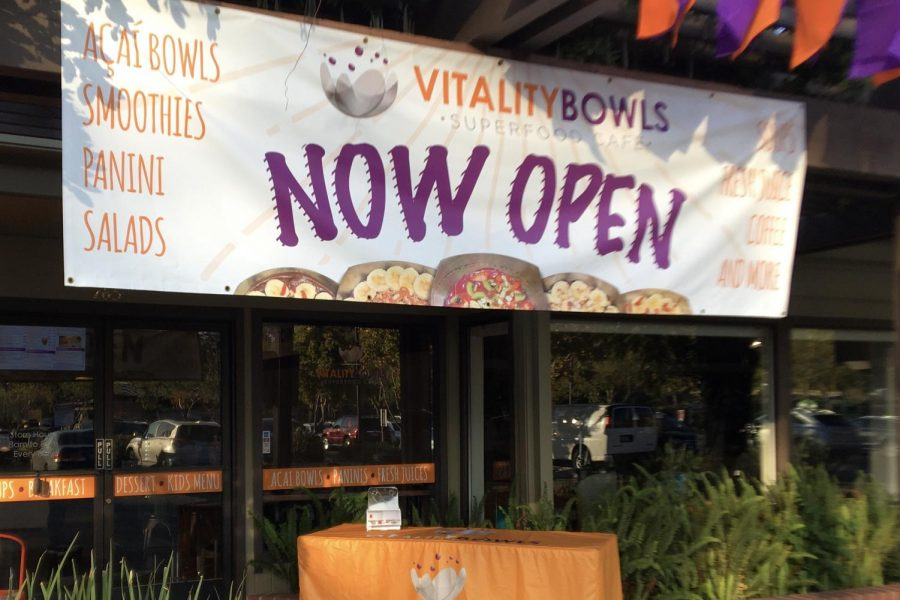 Vitality Bowls offers açaí treats and paninis in East Blithedale Shopping Center