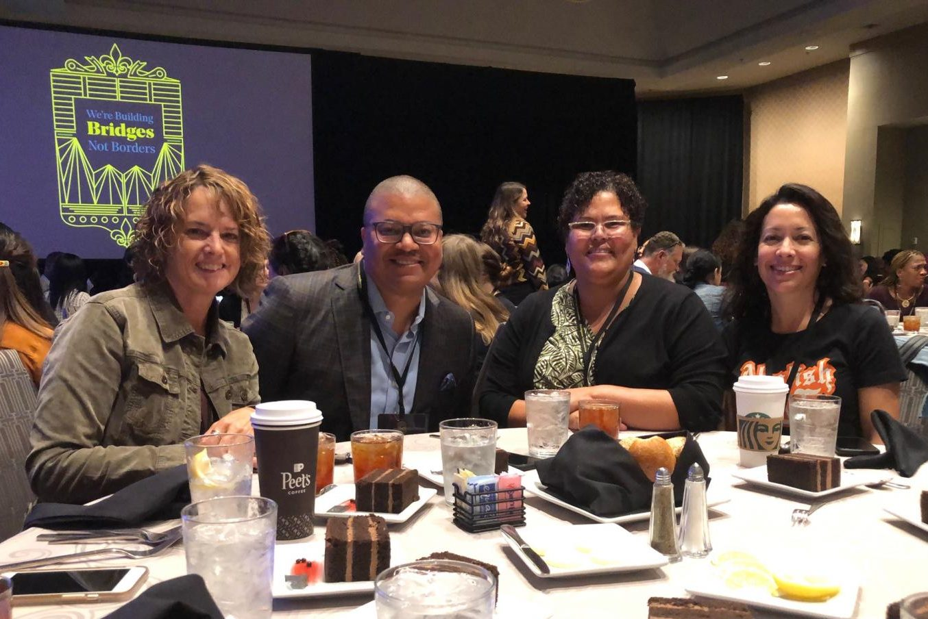 SOAR accepted the award at the National Summit for Courageous Conversation in New Orleans, Louisiana on October 15. (Courtesy of J.C. Farr)
