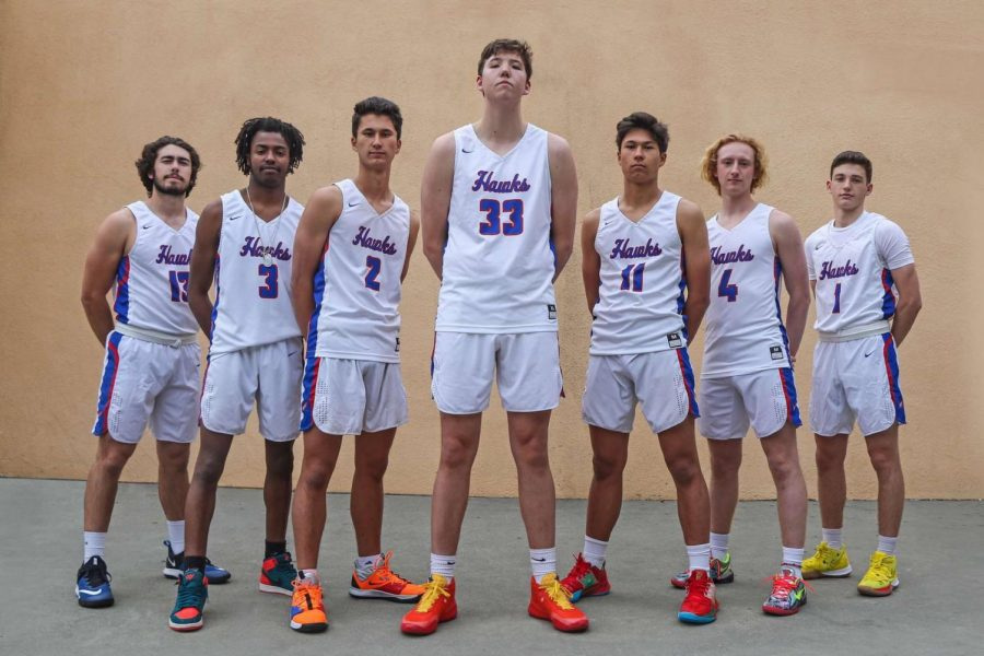 The seniors on the boys basketball team. (Courtesy of Tam Boys Basketball)