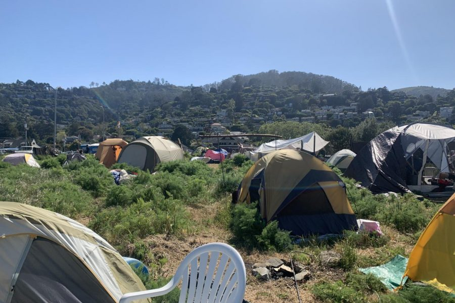The Dunphy Park homeless encampment in Sausalito. (Amelia Sandgren)